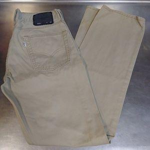 Levi's 514 Slim Straight Fit Size 31x32 Tan Jeans!